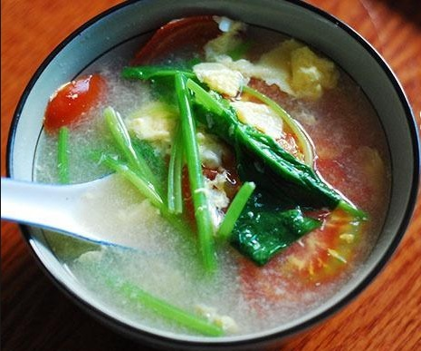 菠菜羹 ( Minced Beef Soup With Spinach )