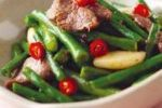 豆角炒鴕鳥柳 ( Stir-fried Ostrich Fillet with String Beans )
