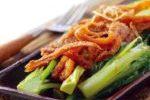 鳳尾魚炒油麥菜 ( Stir-fried Indian Lettuce with Long-tailed Anchovies )