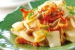 蝦乾鮮菇炒沙葛 ( Stir-fried Yam Bean with Dried Shrimps and Mushrooms )